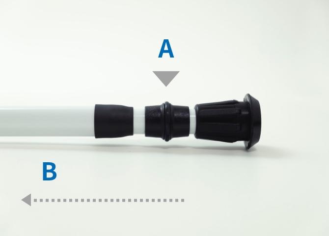 縮める操作の説明写真